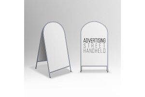 Metal Empty Blank Advertising Street