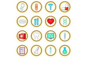 Medical vector set, cartoon style