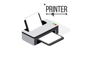 Printer Icon Vector. Modern Office