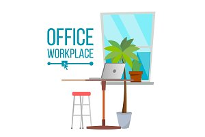 Office Workplace Concept Vector