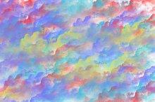 Fund multicolored clouds