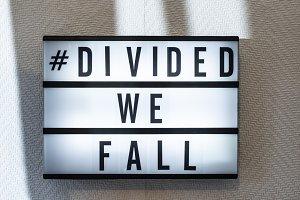 Message divided we fall on illuminat