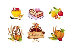 Thanksgiving day design elements