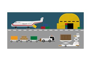 Air cargo delivery transportation