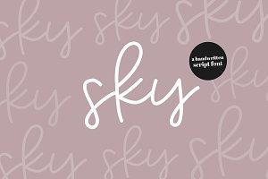Sky - A Pretty Script Font