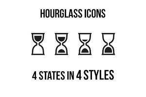 Hourglass icons
