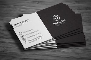 Simple Black & White Business Card