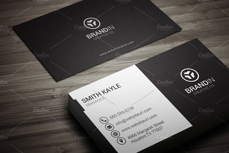 Simple Black & White Business Card - Business Card Templates ...