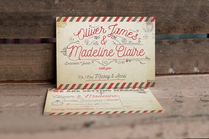 Vintage Airmail Wedding Suite