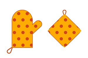 Pair of Cute Kitchen Devices Vector