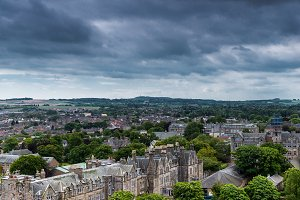 St Andrews city view from cathedral