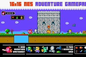 16x16 Nes adventure gamepack