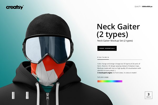 Neck Gaiter Mockup Set (2 types)
