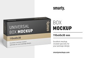 Box mockup / 110x60x30 mm
