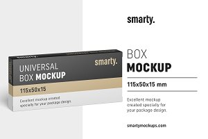 Box mockup / 115x50x15 mm