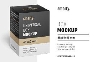 Box mockup / 45x60x45 mm