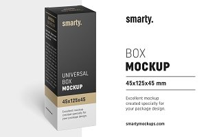 Box mockup / 45x125x45 mm