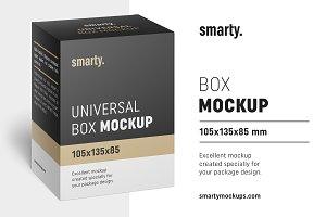 Box mockup / 105x135x85 mm