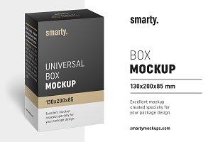 Box mockup / 130x200x85 mm
