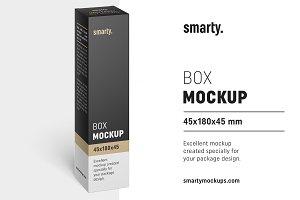 Box mockup / 45x180x45 mm