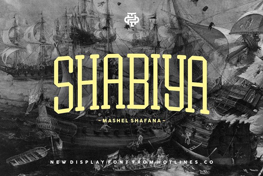 Shabiya typeface