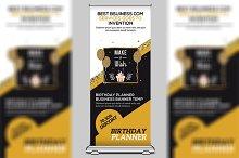 Birthday Planner Roll Up Banner