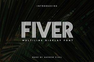 Fiver - Multiline Display Font