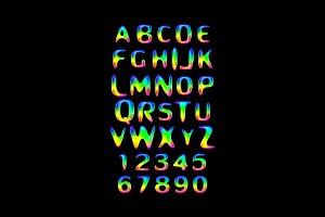 Vector of stylized splashy font