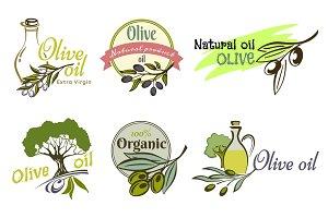 Olive oil logo labels and design