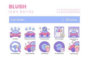 50 Car Wash Icons | Blush