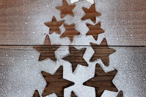 Stars Christmas Tree Shape
