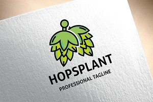 Hops Plant Logo