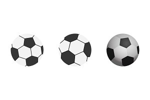 Soccer ball icon. Flat vector