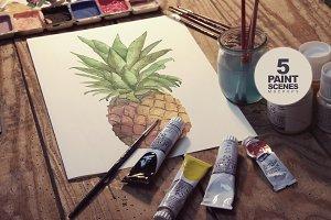 Paint Scenes x5 | Realistic Mockups