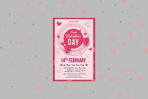 Valentine's Day Party Flyer V02