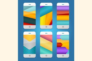 Vector Mobile Phones Backgrounds.