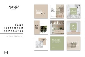 Sage Instagram Templates
