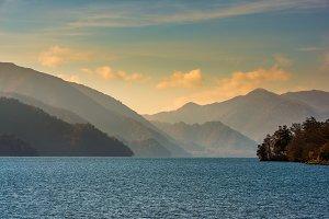 landscape with lake, Japan