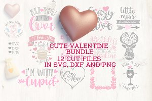 12 Cute Valentine's Cut Files