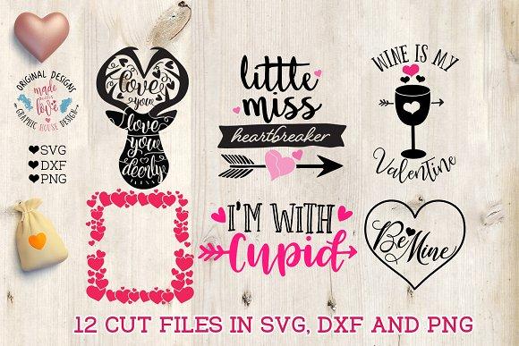 12 Cute Valentine S Cut Files Pre Designed Vector Graphics Creative Market