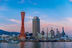 seascape of Kobe port, Japan