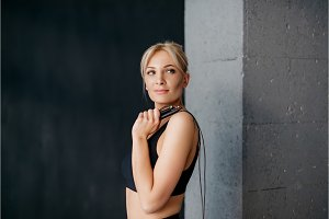 portrait of sports woman with