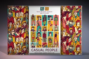 Casual people vector set