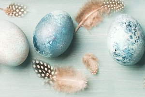 Painted eggs for Easter holiday