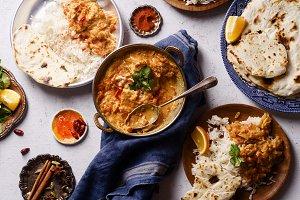Indian cuisine: chicken tikka masala