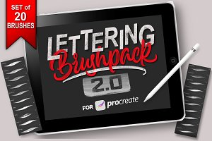 Lettering Brush-Pack for Procreate