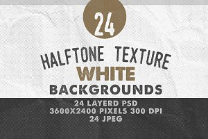 24Halftone Texture White Backgrounds