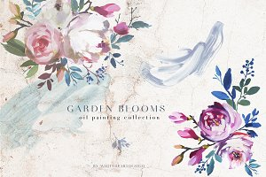 Garden Bloom Floral Clipart Set