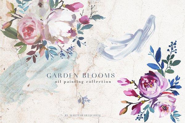 Garden Bloom Floral Clipart Set