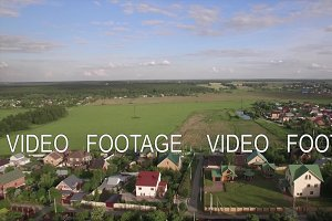 Russian village surrounded with